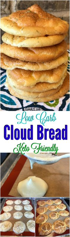Carb Cloud Bread Recipe Made with Baking Soda Low Carb Cloud Bread Recipe Made with Baking Soda and a keto friendly recipe!Low Carb Cloud Bread Recipe Made with Baking Soda and a keto friendly recipe! Keto Foods, Ketogenic Recipes, Keto Snacks, Low Carb Recipes, Cooking Recipes, Bread Recipes, Keto Desserts, Fat Head Recipes, Health Food Recipes