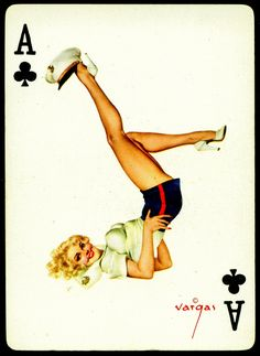 Vargas Pin Ups ~ Ace of Clubs by cigcardpix, via Flickr