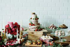 Marsala Themed Dessert Table. Photo by Inlight Photos. www.theweddingnotebook.com