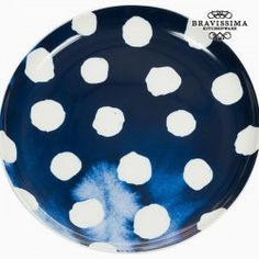 Assiette plate Porcelaine - Collection Kitchen's Deco by Bravissima Kitchen Kitchen In, Serving Dishes, Tray, Tableware, Desserts, Indigo, Life, Products, Collection