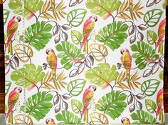 Parrot fabric retro funky pink tropical from Brick House Fabric: Novelty Fabric