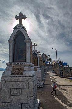 Shrines on Cerro Calvario in Copacabana, Bolivia | heneedsfood