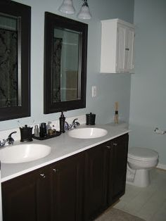 Painting Bathroom Cabinets Black centsational girl » blog archive » budget bathroom makeover +