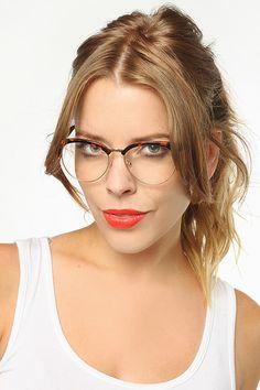 9c7208861b Juniper Unisex Wood Arm Half-Frame Clear Glasses