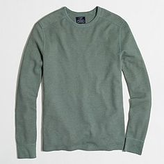 Factory long-sleeve heathered thermal tee