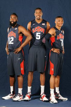 View photos for Thunder Trio Together on Team USA Team Usa Basketball, Olympic Basketball, Basketball Legends, Basketball Wall, Basketball Stuff, Olympic Sports, Basketball Leagues, Basketball Uniforms, Basketball Shoes