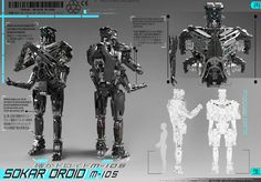 Personal Work-S Droid-M-105 Spread Sheet by Gavin Grigsby | Robotic/Cyborg | 2D | CGSociety