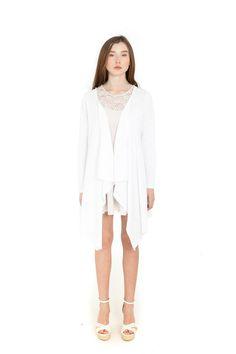 WHITE CARDIGAN  Size Available: one size  Material: cotton  SS 2016 Белый кардиган Имеющийся размер: один размер Материал: коттон SS 2016 Білий кардиган Имеющийся размер: один размер Материал: коттон SS 2016 #cardigan #fashion #designer #кардиган #кардиган#одежда#мода