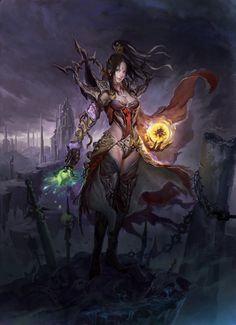Art about fantasy, steampunk, comics, sci-fi and other lands of dreams. Fantasy Women, Fantasy Girl, Dark Fantasy, Final Fantasy, Character Concept, Character Art, Concept Art, Character Ideas, Character Design