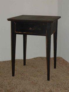 Handmade Primitive Shaker End Table - Color Choice - Rustic Cottage Style - ShopHandmade Primitive Tables, Primitive Antiques, Rustic Cottage, Cottage Style, Antique Decor, Table Storage, Shaker Style, Country Decor, End Tables