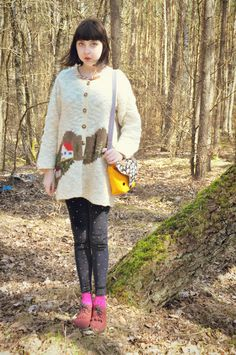 katie of coeurs de foxes with littleoddforest's Fantastic Fox Sling Purse <3