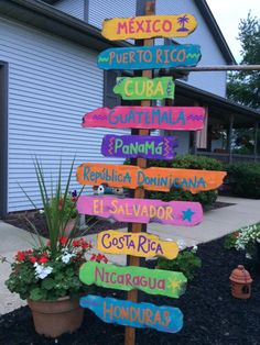 Hand made this for my Spanish class room! Mexico, Central America and the Caribbean countries. Love the beaches! Spanish Classroom Door, Classroom Themes, Elementary Spanish, Teaching Spanish, Class Decoration, School Decorations, Spanish Heritage, Hispanic Heritage Month, Theme Days