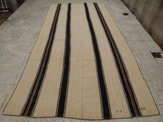 Made of Natural Virgin Wool Kilim Rug, Organic Kelim,off White Rug 5'7''x11'3'' #CentralOriental #TraditionalPersianOriental
