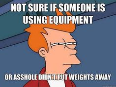 true dat, however normally at my gym when i put more w8 on dat bitch every1 circles around to watch