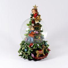 Natal / Globos de neve - Bola de Neve com Crianças e Árvore de Natal - Bau da Cravus