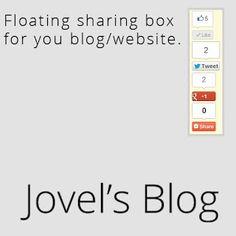 Jovel's Blog's Sharer Box, New and updated. | Jovel's Blog