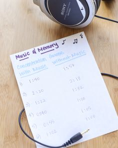 Science Fair: Music and Memory: The effect of music on memory retention