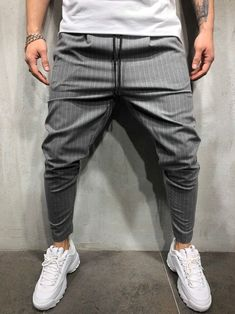 Back again with Premium Quality fabric! Our pants sold out in 1.5 weeks the first time. Be sure to get yours TODAY - PRODUCT FEATURES: Men's Streetwear Pants, Men's Ankle Pants, Striped Trousers, Side Stripes, Elastic Waist, Drawstring, Seasonal Light Fabric, Slim Fit, Casual, 3 Regular Pockets (2 Side and 1 Back), Str