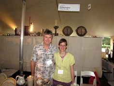 Bruce Gholson and Samantha Henneke, Bulldog Pottery vis jbf times: 2010-09-11 Saturday - Mint Museum Potters Invitational