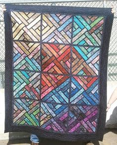 Fractured Paint Box, Quiltworx.com, Made by CI Victoria Johnson.