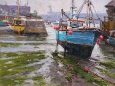 """""""Rainy Day, Megavissey, England,"""" by Ned Mueller, a participant in the 2013 Plein Air Convention & Expo. http://www.pleinairconvention.com/"""