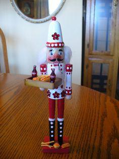 NUTCRACKER~Coke/cola nutcracker with hamburger, hot dog, french fries-1 of a kind