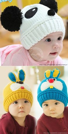 BABY Hats - September 2017 - Needlework with . BABY HATS - September 2017 - Needlework with . Baby Hat Knitting Pattern, Baby Hats Knitting, Crochet Baby Hats, Knitting For Kids, Crochet Beanie, Crochet For Kids, Loom Knitting, Knitting Projects, Knitted Hats