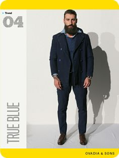 GQ's Spring Trend Report 2014. Here, Ovadia & Sons does indigo. And, of course, they do it very well.