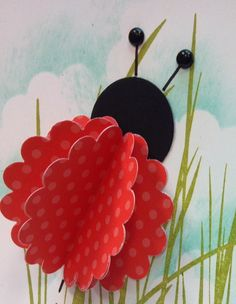 Lady Bug Punch Art - for a little girl's birthday card