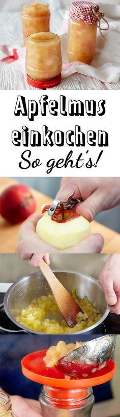 Apfelmus einkochen – so geht's Food Menu, A Food, Food And Drink, Healthy Eating Tips, Healthy Nutrition, Chutneys, Kneading Dough, Smart Kitchen, Vegetable Drinks