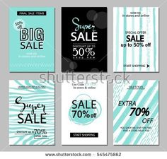 Set Of Christmas Sale Flyer Template By Creative Graphics On