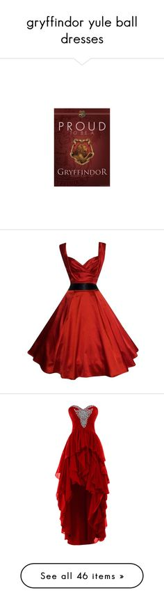 """gryffindor yule ball dresses"" by hitthisfeeling ❤ liked on Polyvore featuring home, home decor, harry potter, dresses, vestidos, vintage, women dresses, cocktail prom dress, sweetheart cocktail dress and prom dresses"
