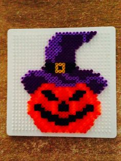 Pumpkin - Halloween hama beads by Marye