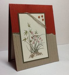 This card was created for a torn paper challenge on  9-2-16.