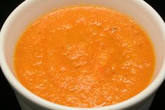 Carrot, Apple, and Ginger Soup - Slightly spicy, slightly sweet, and totally yummy. www.ultimatedanielfast.com
