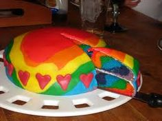 A rainbow cake is fun to look at and eat and a lot easier to make than you might think. Here's a step-by-step guide for how to make a rainbow birthday cake. Cupcakes, Cupcake Cakes, Fondant Cakes, Easy Rainbow Cake Recipe, Cheesecakes, Rainbow Birthday, Birthday Cake, Birthday Ideas, 21st Birthday