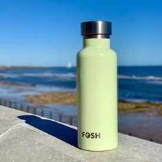 By the sea, in Blyth. Stay cool with this stylish stainless steel, reusable water bottle that keeps water cold for 24 hours, hot for North East England, Go Green, Water Bottles, Stainless Steel, Cold, Sea, Cool Stuff, Drinks, Stylish