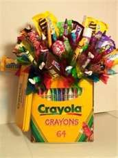 Crayons with candy