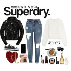 The Cover Up – Jackets by Superdry: Contest Entry by ronnieheart on Polyvore featuring мода, See by Chloé, River Island, Converse, Yves Saint Laurent, BP., Ray-Ban, Bobbi Brown Cosmetics, Becca and NARS Cosmetics