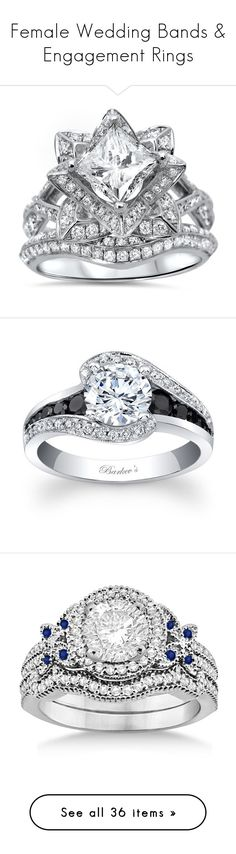 """""""Female Wedding Bands & Engagement Rings"""" by boondock-saint1999 ❤ liked on Polyvore featuring jewelry, rings, white, flower wedding ring, diamond band ring, wedding rings, diamond wedding rings, white gold diamond rings, engagement ring and engagement rings"""