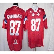 b5bd4e91e Patriots  87 Rob Gronkowski Red 2012 Pro Bowl Stitched NFL Jersey
