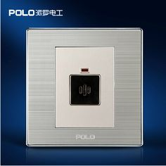 Wholesale POLO Luxury Wall Switch, Light Switch,Sound and Light Control Time Delay Switch,Champagne / Black Color, AC 110~250V #Affiliate