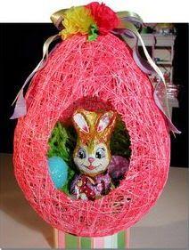 Cómo hacer un huevo de Pascua con un conejito adentro usando un globo paso a paso