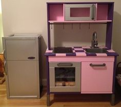 IKEA Hackers: Duktig Kitchen Goes from Bland to Bling >>> perfect realistic play fridge