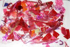 CAROLYN SAXBY MIXED MEDIA TEXTILE ART: Bubble Wrap