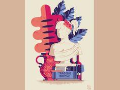 Daniele Simonelli Graduation - Poster on Behance Character Illustration, Digital Illustration, Graphic Illustration, Business Illustration, Vector Illustrations, Graphic Design Layouts, Greek Art, Grafik Design, Poster On
