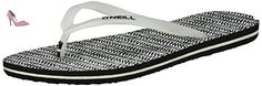 O'Neill  Fw Printed, tongs femme , Noir (Black Allover Print W/ White 528), 42 - Chaussures oneill (*Partner-Link)