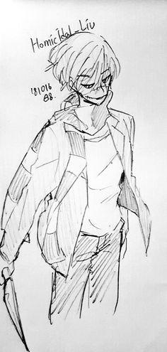 Liu Homicidal, Fan Anime, Jeff The Killer, Fujoshi, Creepypasta, Favorite Person, Cool Art, Weird, Horror