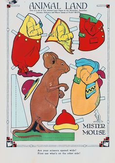 Vintage Paper Doll, Mouse | Flickr - Photo Sharing!