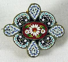 antique mosaic   Micro Mosaic Pin from 4sot on Ruby Lane